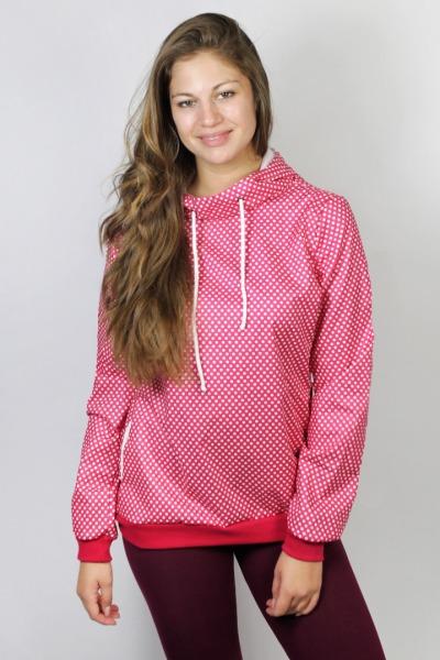 Bio Windbreaker Doonia Baumwolle pink Punkte