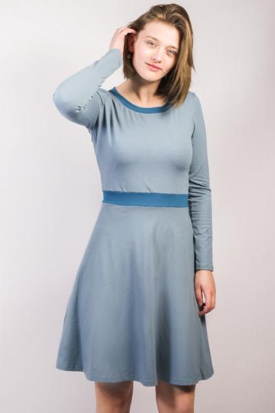 Organic jersey-dress Skowa grey / teal