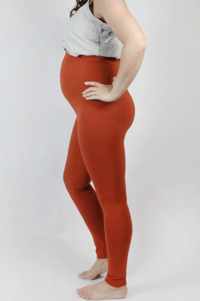 Organic leggings Mama rust