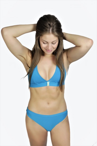 Recycling Bikini panties Fjorde teal green