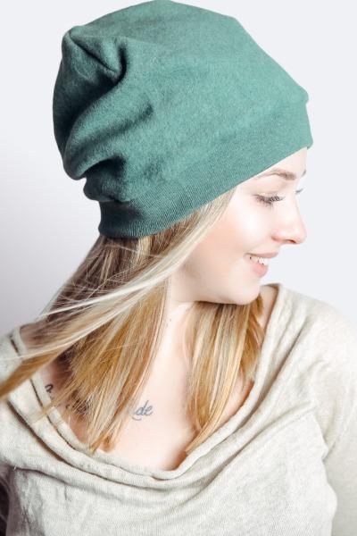 Bio Mütze Lumi Baumwollfleece grün