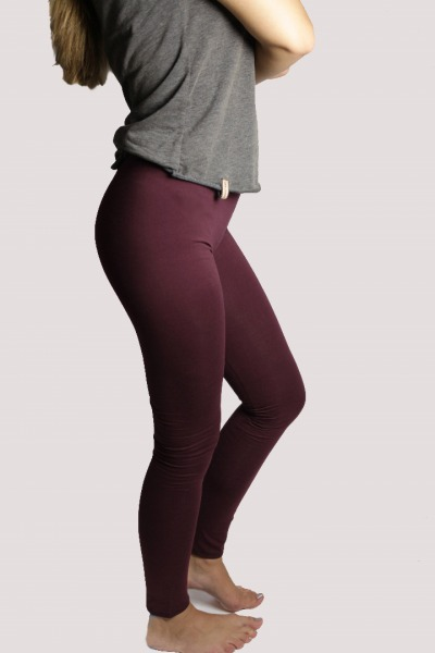 Bio Leggings aubergine-coloured
