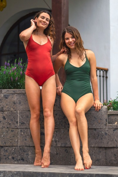 Recycling swimsuit Fr ya red