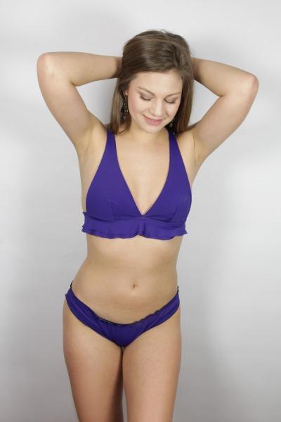 Bikini top Volanti indico