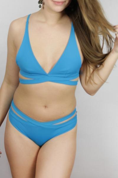 Recyclin Bikini-panties Johto petrol