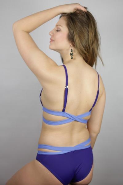 Recyclin Bikini-panties Johto indico / sailorblue