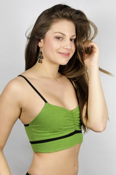 Organic bustier Yoga tinged in verde
