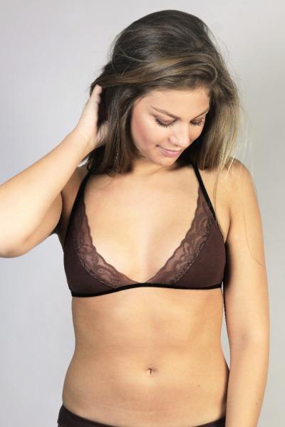 Bio bra Noir brown brown lace