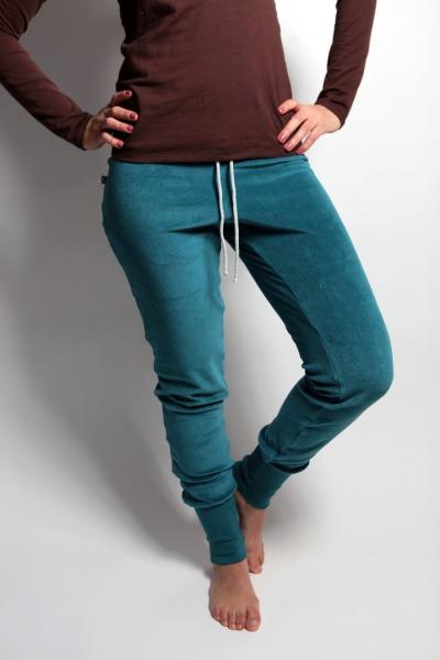 Organic velour pants Novi smaragd