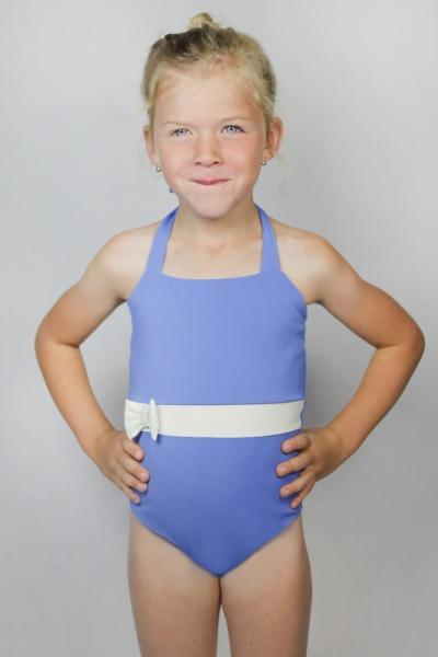 Recycling swimsuite Bowje Petite sailorblue /cream