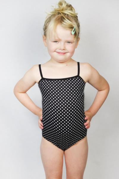 Organic swimsuit Madri Petite white dots