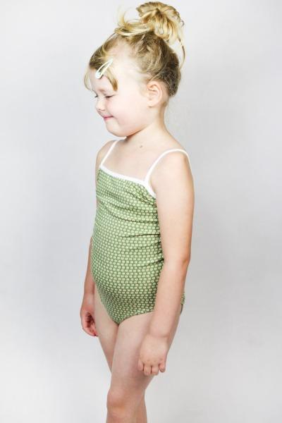 Organic swimsuit Madri Petite green meadow