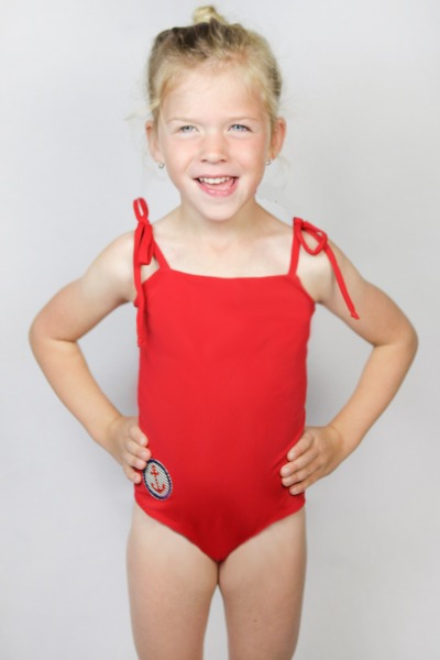 Recycling swimsuite Flori Petite melon red
