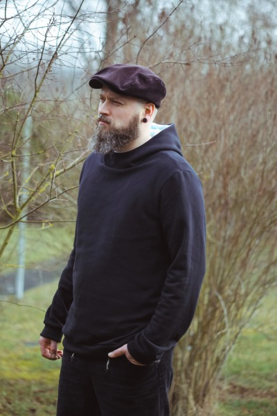 Bio Hoodie Heada schwarz / mint