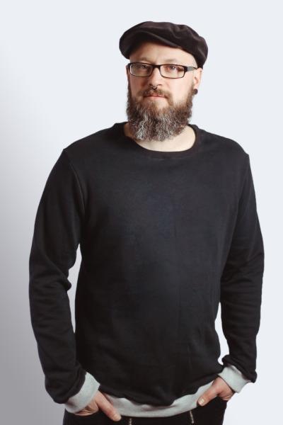 Bio Sweater Heada schwarz / grau