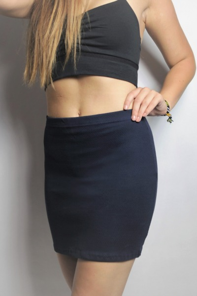Organic skirt Snoba dark blue structure