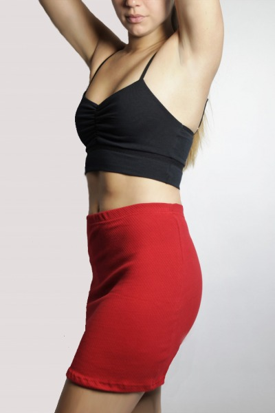 Organic skirt Snoba red structure