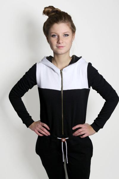 Bio Jumpsuit Pitique D schwarz weiß
