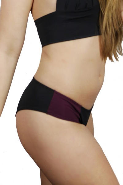 Recycling Biniki-panties Lorelow black / tinto