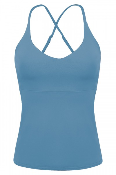 Recycling Tankini Top Nola sailorblue