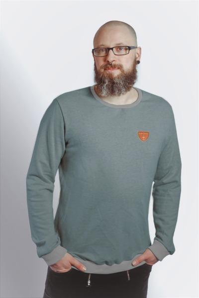 Bio Sweatshirt Heda stahl grau