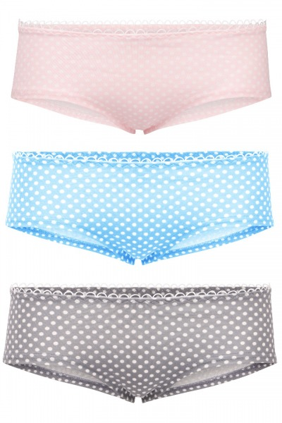 Bio hipster panties set: litte dots