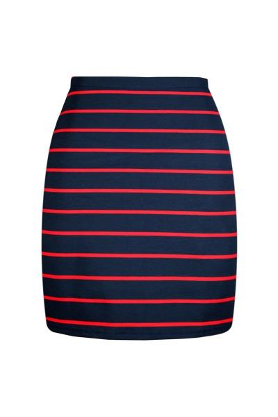 Organic skirt Snoba navy blue red