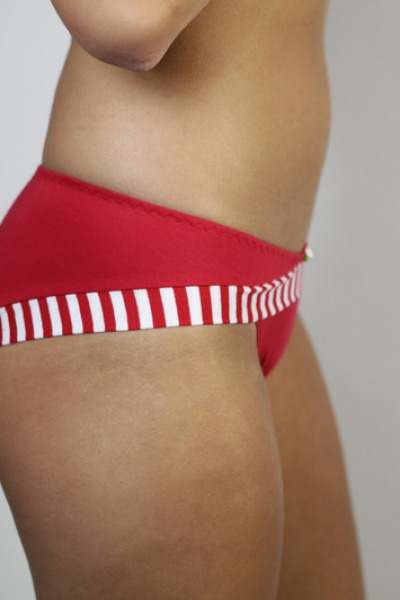 Organic briefs Rockl red / stripes