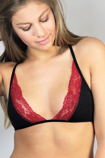Bio bra Noir black dark red