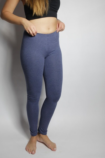 Bio Leggings tinged with blue