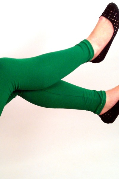 Bio Leggings uni grün