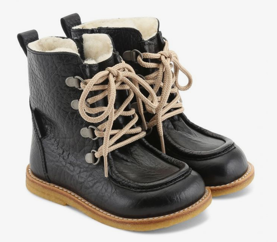 TEX-Boot with Zipper and Lace Black - 1