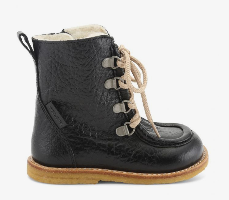 TEX-Boot with Zipper and Lace Black - 3