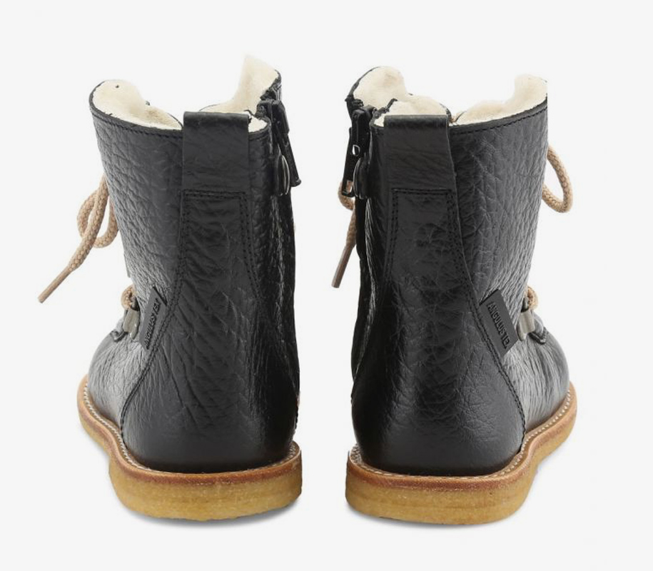 TEX-Boot with Zipper and Lace Black - 2