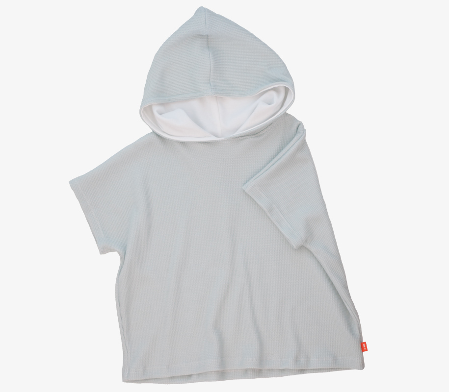 Oversized Poncho SKY GREY 2