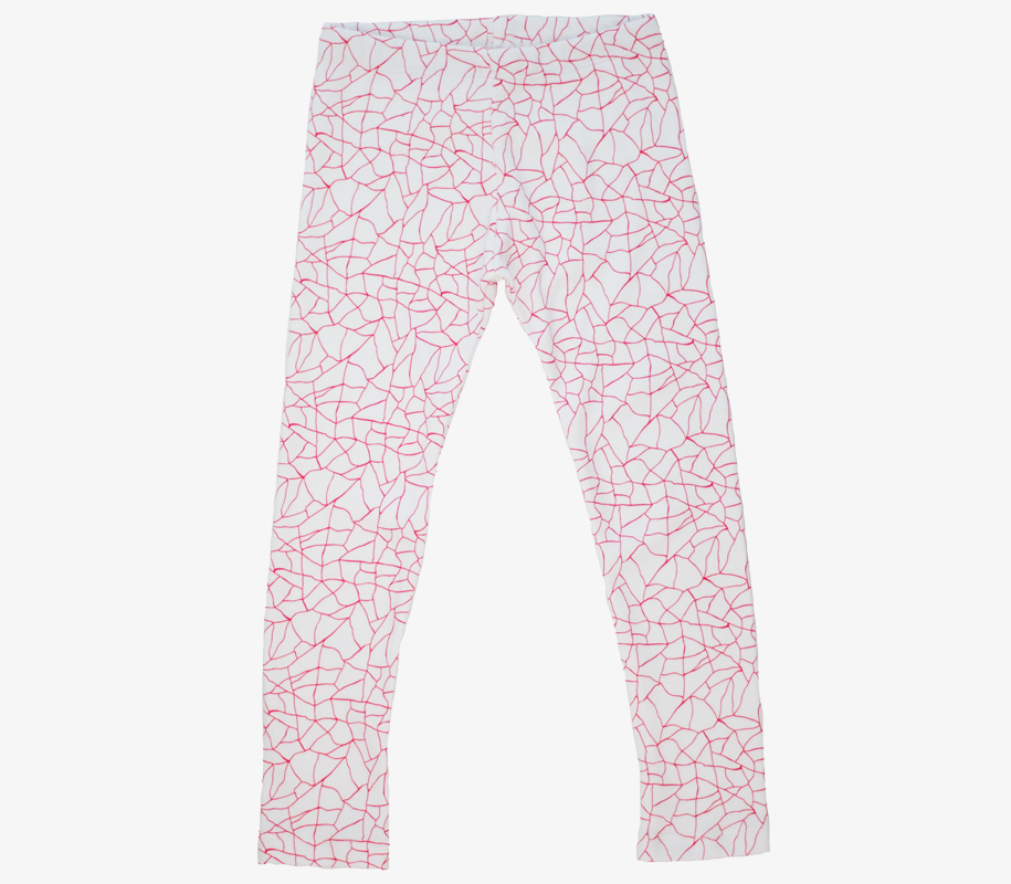 Leggings RED CRACKED AOP