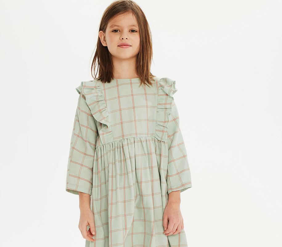 Plaid Frill Dress MINT