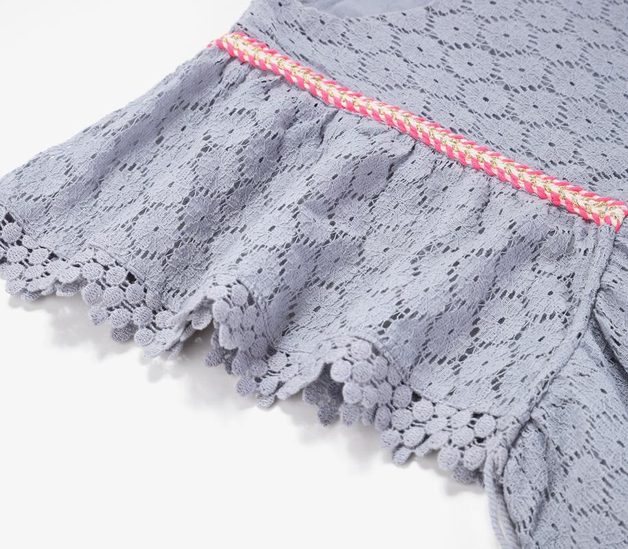Dress NORAH Silver Cloud Flower Lace