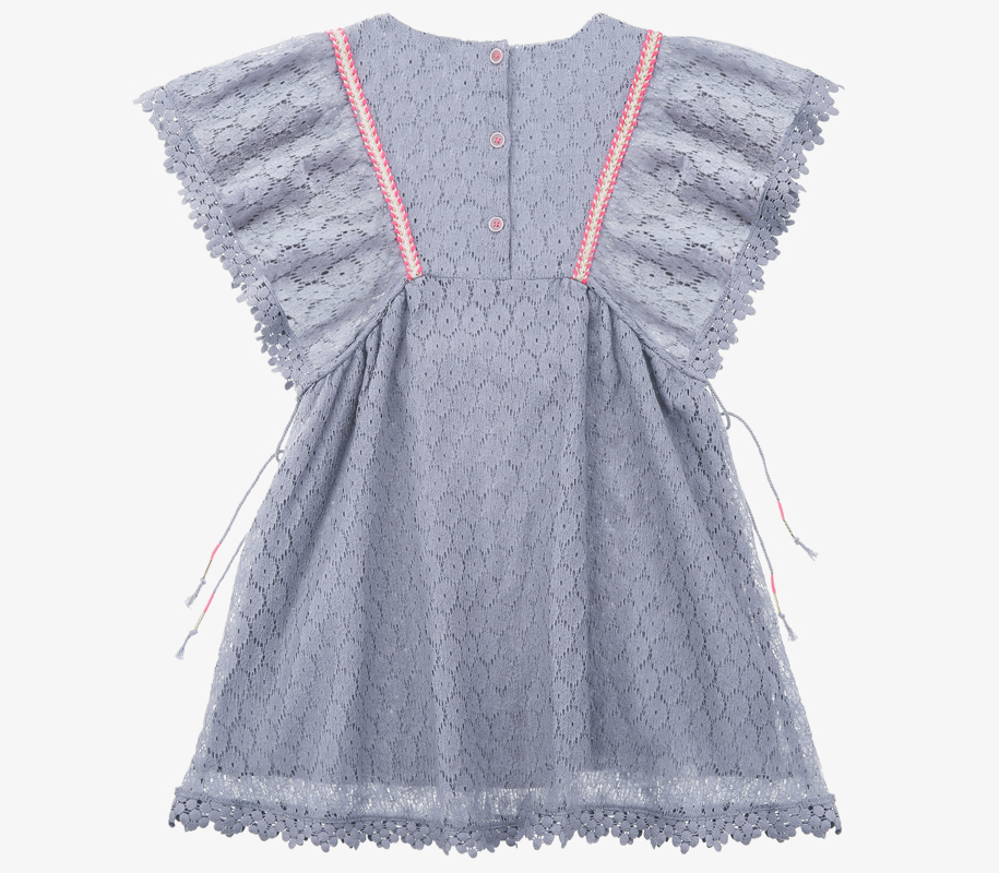 Dress NORAH Silver Cloud Flower Lace - 4
