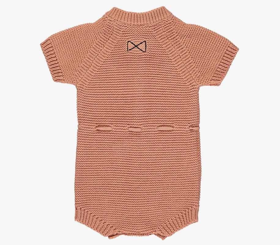 Knitted Short Romper SALMON 2