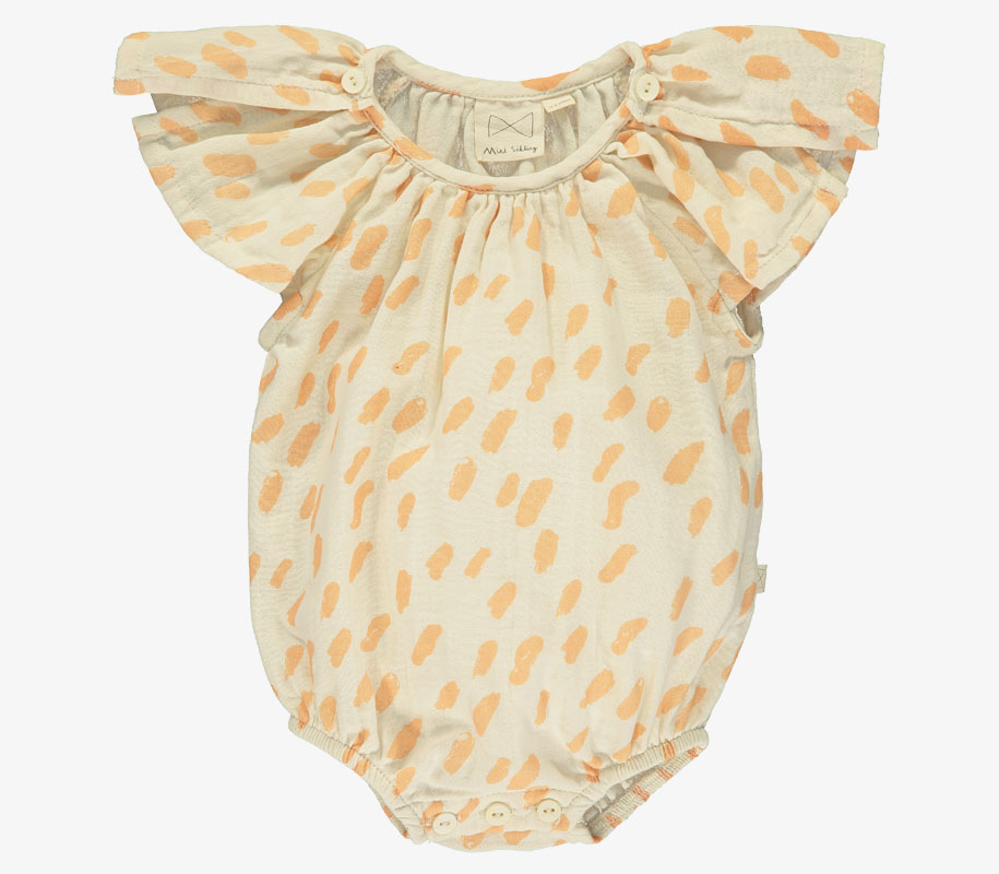 Butterfly Sunsuit PAINT SALMON