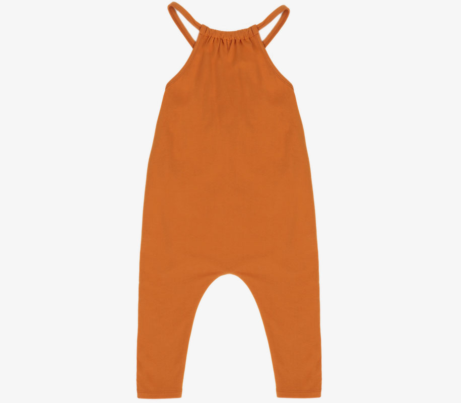 Gathered Jumpsuit TANGERINE 2