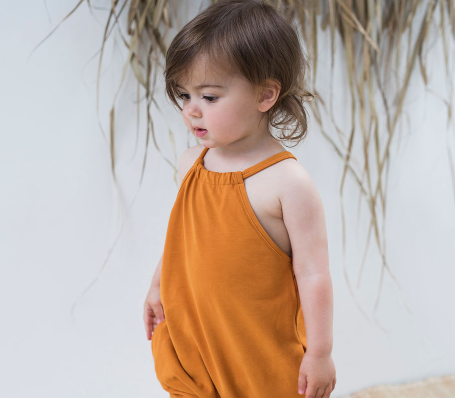 Gathered Jumpsuit TANGERINE