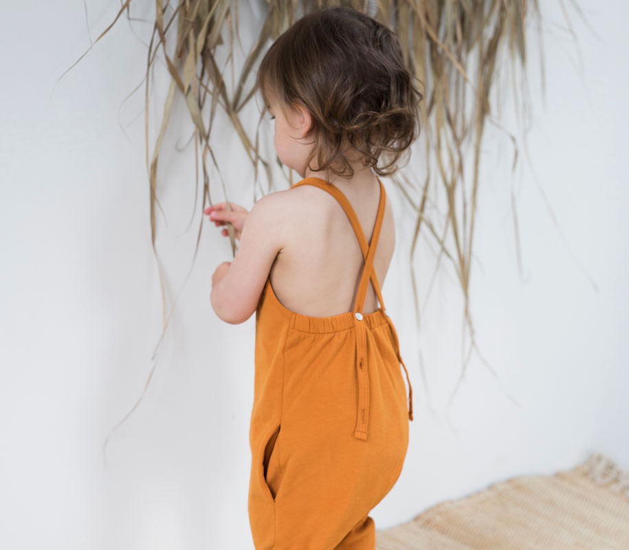 Gathered Jumpsuit TANGERINE 3