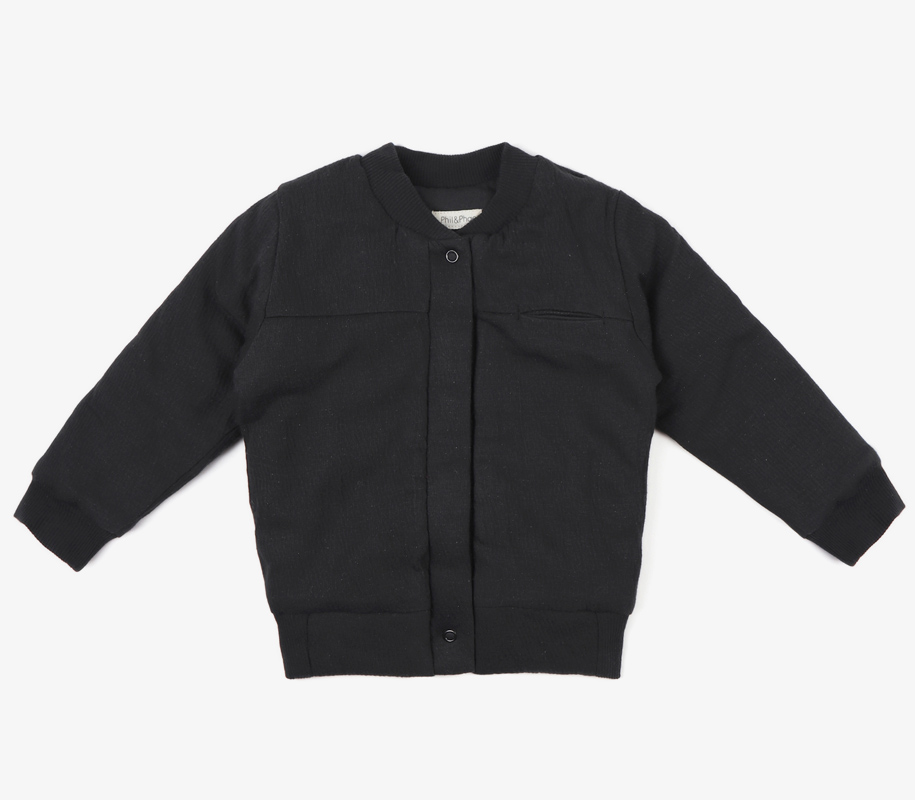 Textured Bomber CHARCOAL