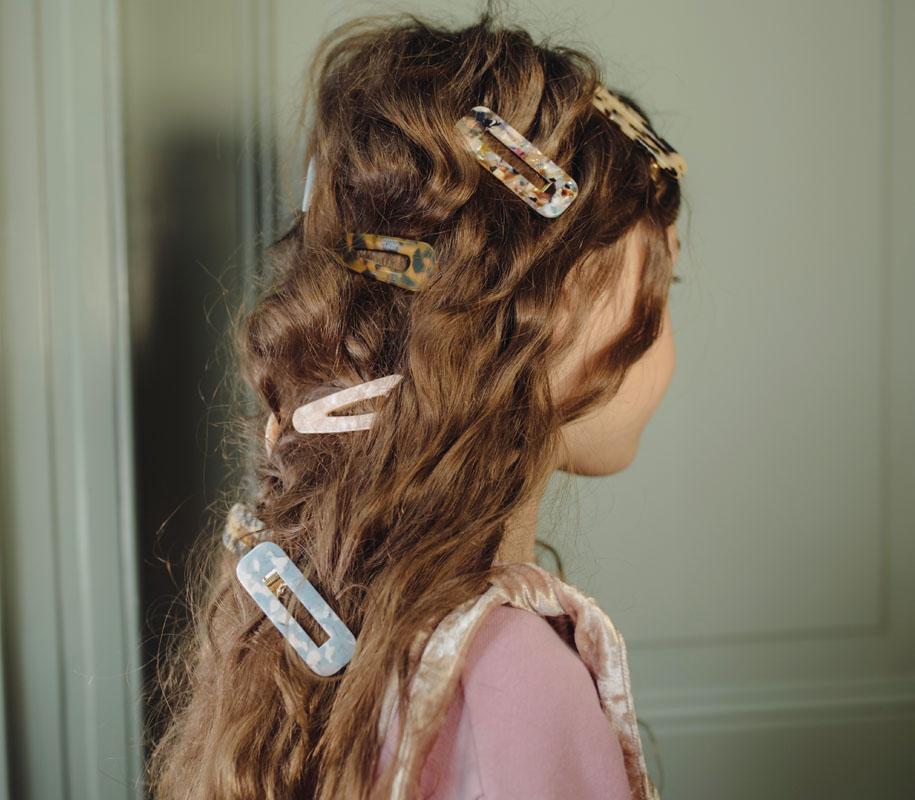 Hairclip Squared SOFT BLEUISH 2