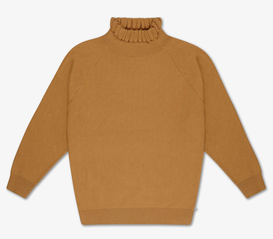 Knit Sweater SMOOTH CAMEL 2