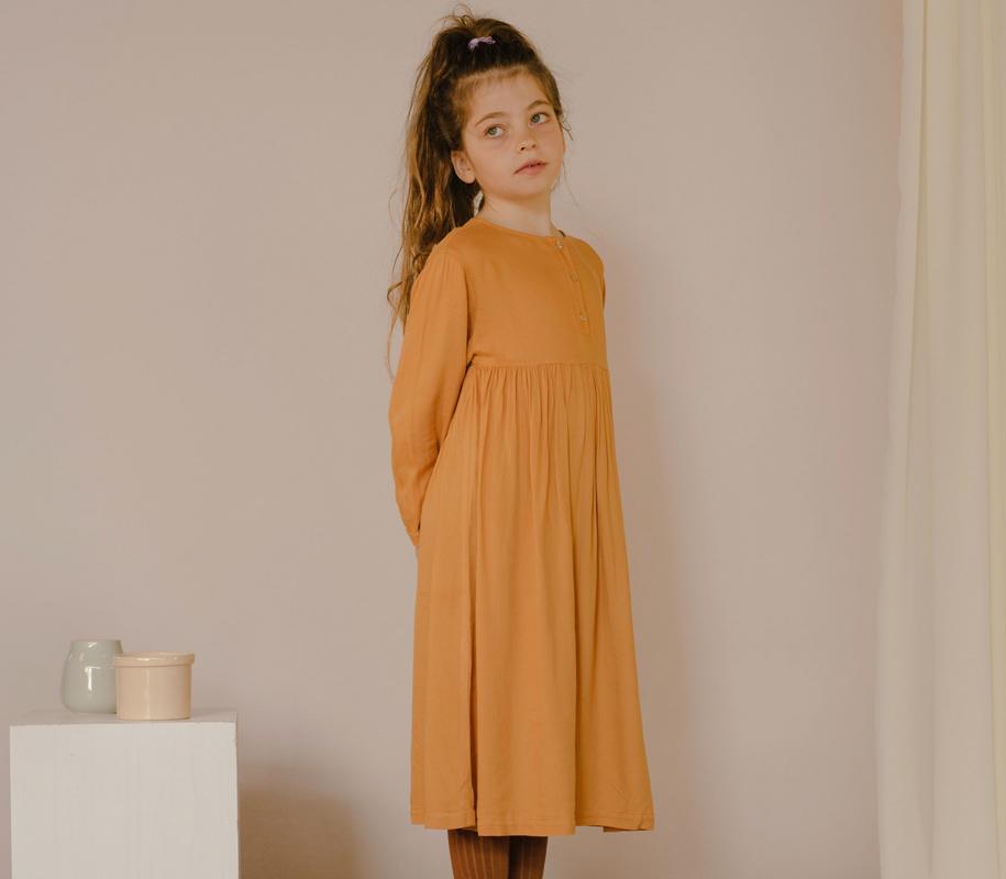Midi Dress WARM OCHRE