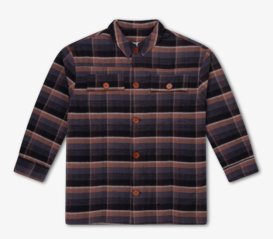 Shirt INKY BROWN CHECK 3