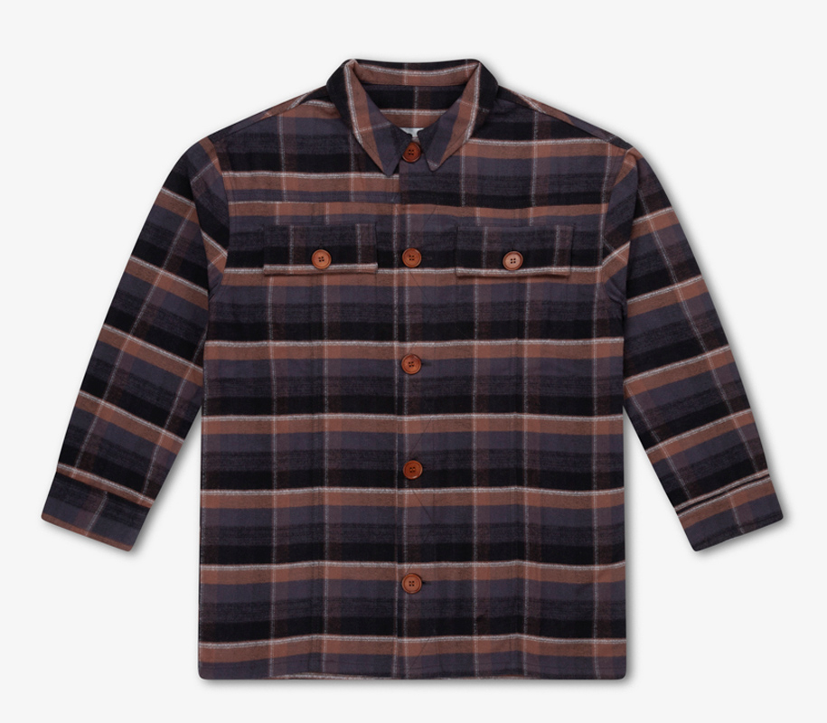 Shirt INKY BROWN CHECK - 3